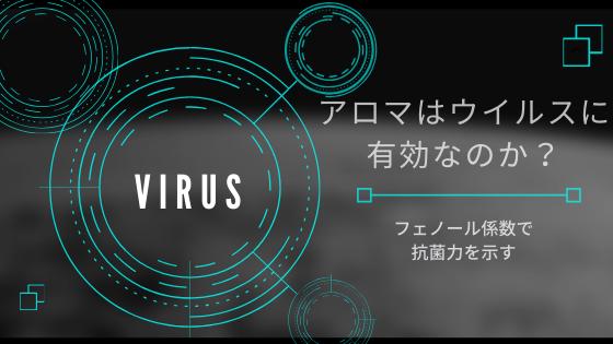 アロマはウイルスに有効なのか?