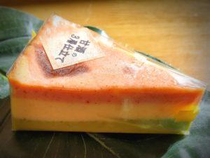甘酒の3層仕立てのチーズケーキ
