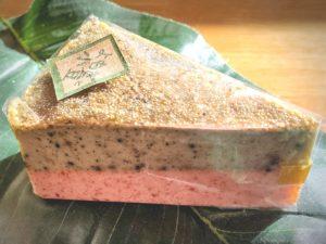 よもぎと小豆のチーズケーキ